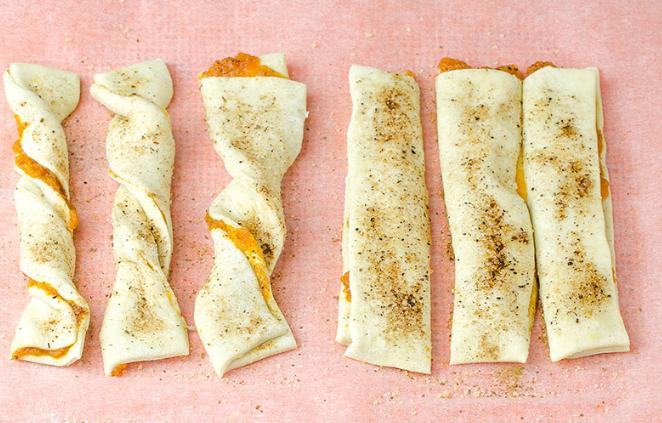 Pumpkin Twists #healthyrecipes #easy #familyfood #pumpkin #lowcarb