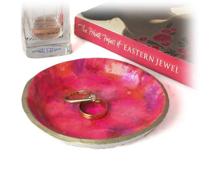 Pink Ring Dish the perfect solution for storing your jewellery handmade by Lottie Of London