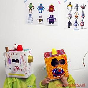 Creakids: robots cabezudo upcycling