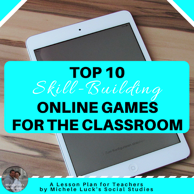 Classroom games are a fun and engaging way to reinforce content in the middle and high school classroom. Take a look at these ideas on using the top skill-building online games for your students. The first one is my favorite go-to for review and lesson learning!