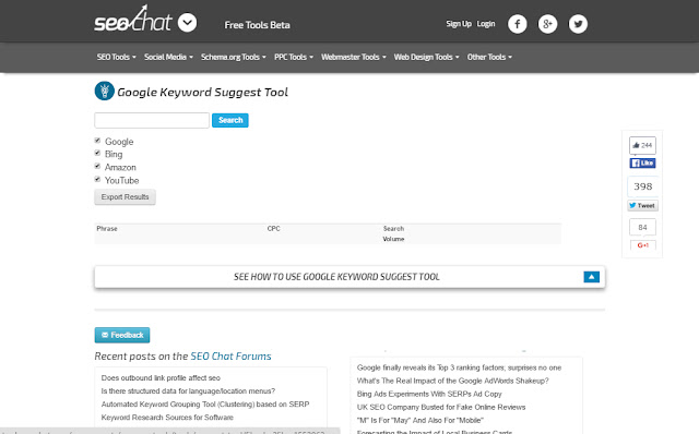 downloading google keyword suggest tool excel