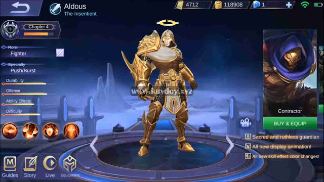 Script Skin Starlight Aldous The Insentient Mobile Legends Gratis