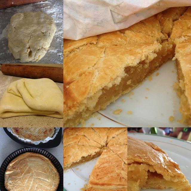 pâte feuilletée, galette, crème d'amandes, sweet kwisine, galette des rois, martinique, cuisine antillaise