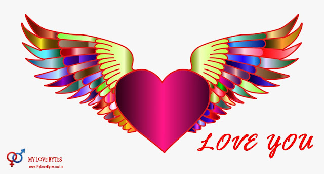 Flying hearts love wallpapers for computer, laptops romantic backgrounds