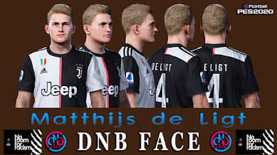 PES 2020 Faces Matthijs de Ligt by DNB