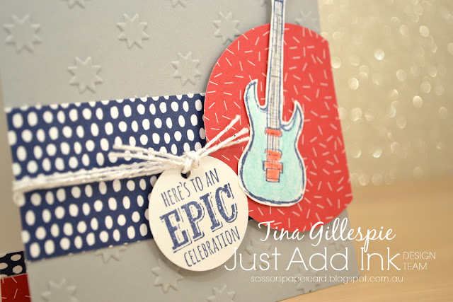 scissorspapercard, Stampin' Up!, Just Add Ink, Tutti-Frutti DSP, Epic Celebrations, Milestone Moments