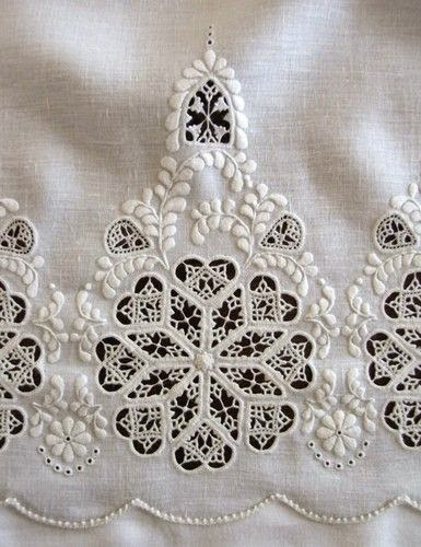 whire embroidery