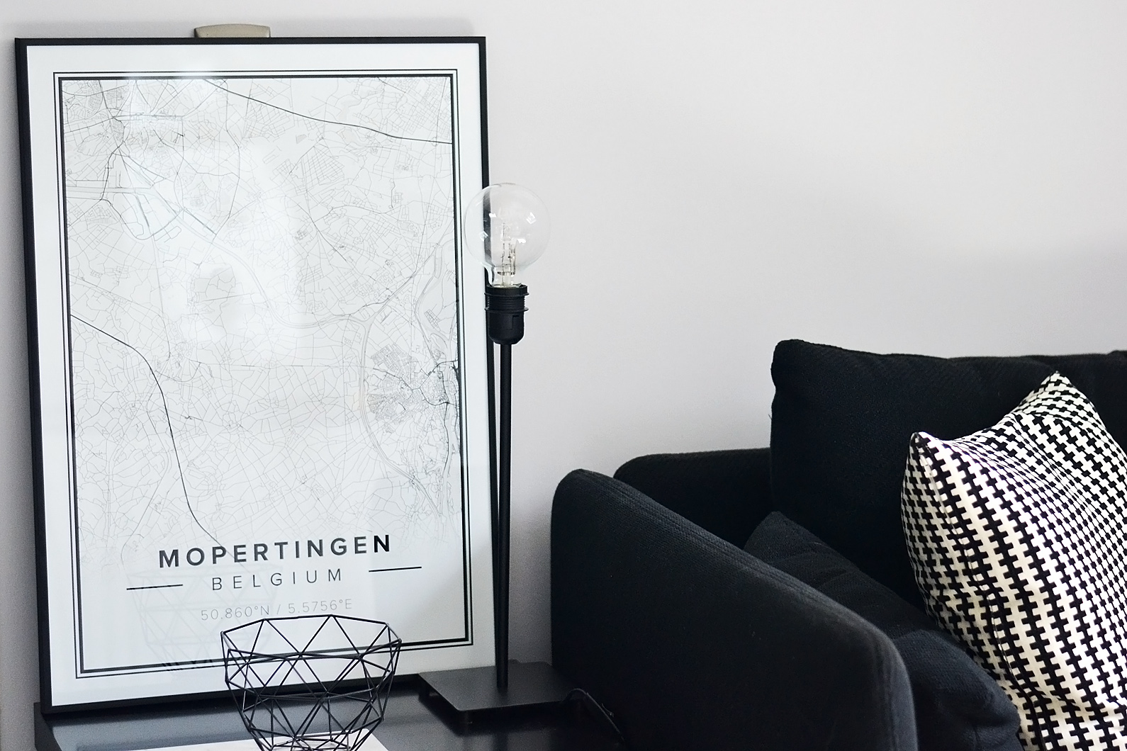 Mapiful poster, road map, minimal print, wall decoration, interior design
