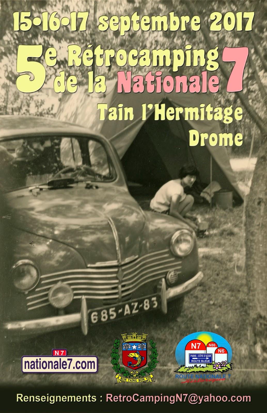15-16-17 Septembre 2017 - Tain l'Hermitage (26) Retrocamping de la Nationale 7 Retrocamping-Tain-2017
