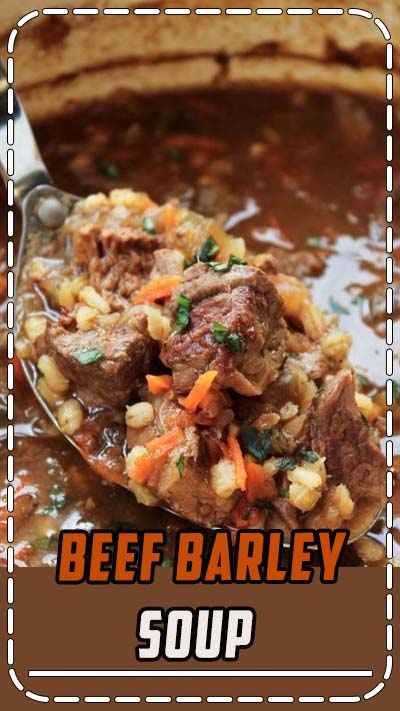 Beef Barley Soup (Slow Cooker) from The Food Charlatan. This soup is lovingly simmered on the stove or in the crock pot to produce the richest Beef Barley Soup recipe I've ever tasted. Shredded carrots and potatoes give it a fabulous, thick texture. #beef #soup #barley #crockpot #slowcooker #vegetable #healthy