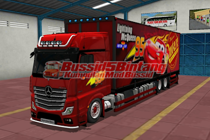 Mod Bussid Marchedes Benz kontainer