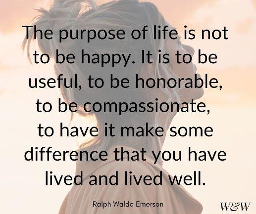 The Purpose of Life - Ralph Waldo Emerson quote #lifequote
