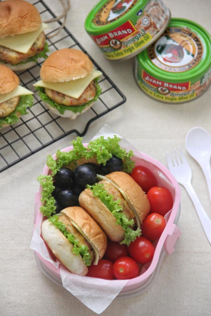 Idea Bento Burger Tuna Begedil