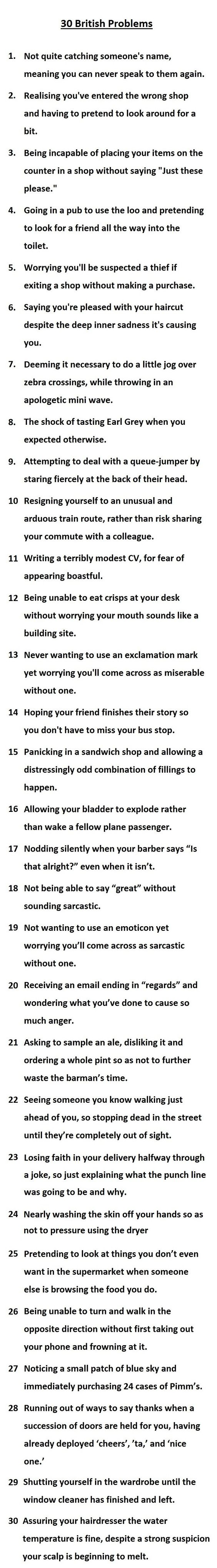 Funny Very British Problems Collection Picture