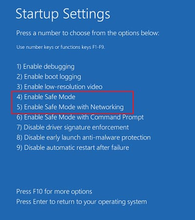 Startup setting screen 2 after restart