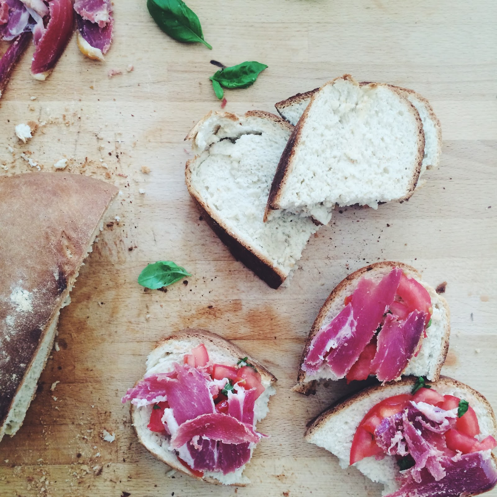 Dalry Rose blog, fresh bread and prosciutto, what makes a house a home