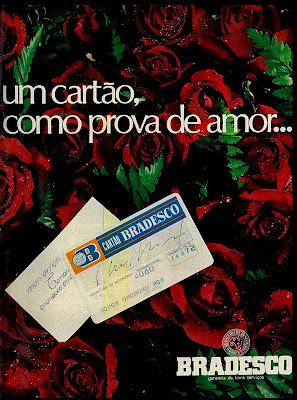 propaganda cartão de crédito do Bradesco de 1971