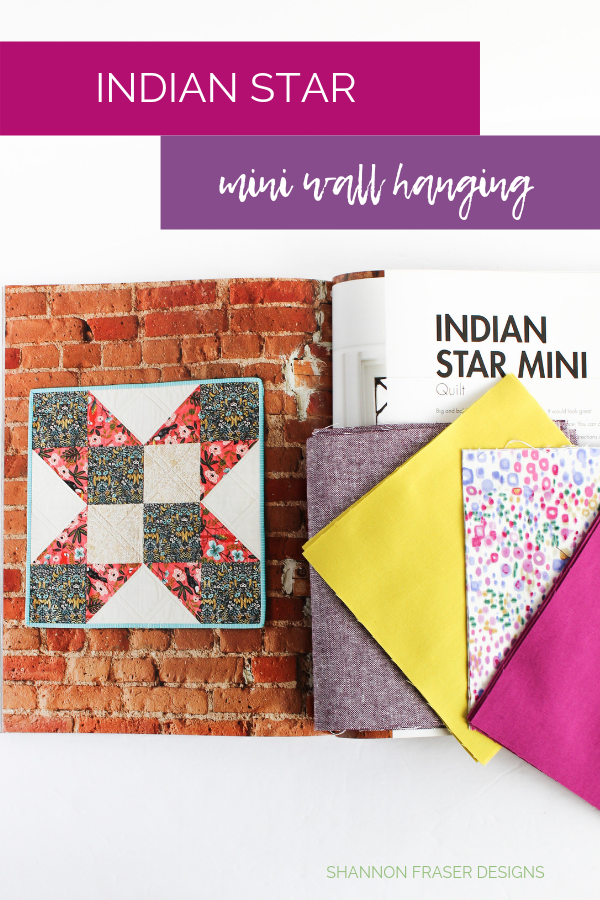 Indian Star found in Quilt Big Book by Jemima Flendt | Quilt Big Blog Hop | Shannon Fraser Designs