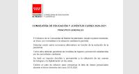 """Escenarios """"Vuelta al cole"""" curso 2020-21"""