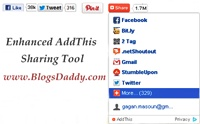 How to Add Enhanced AddThis Sharing Tool To Your Blog