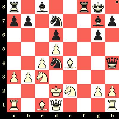 Les Noirs jouent et matent en 4 coups - Victor Winz vs Gosta Danielsson, Varsovie, 1935