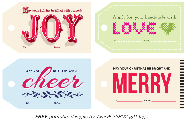 Free printable Christmas gift tags | How About Orange