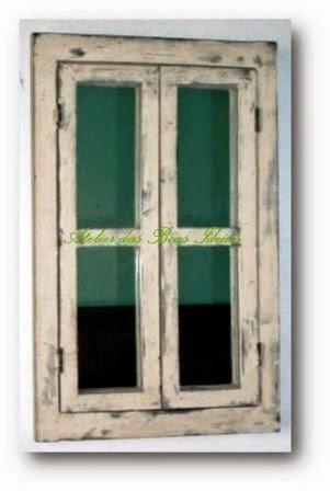 janela reutilizada espelho
