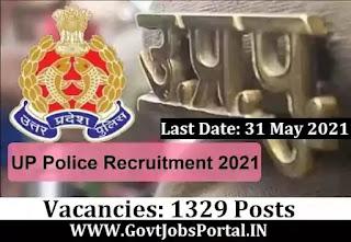Govt Jobs for 1329 ASI Posts in UP - Uttar Pradesh Police ASI Recruitment 2021