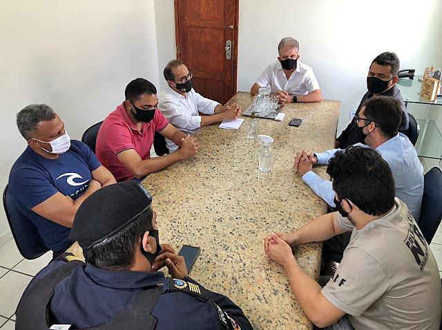 Prefeito de Patos se reúne com autoridades para debater a segurança pública municipal