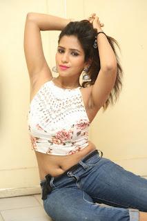 Deekshita Parvathi in a short crop top and Denim Jeans Spicy Pics Beautiful Actress Deekshita Parvathi January 2017 CelebxNext (193).JPG