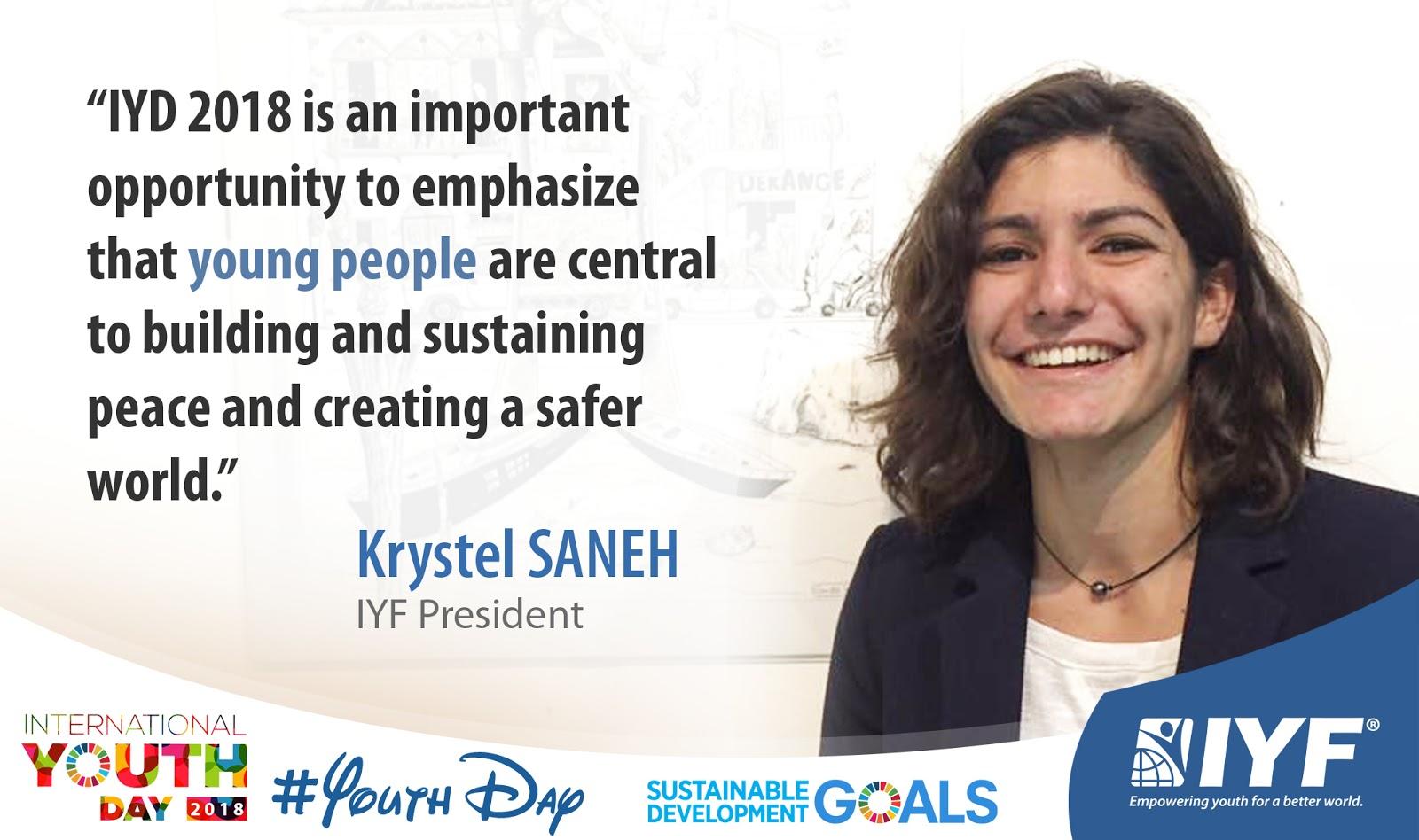 Krystel SANEH, IYF President