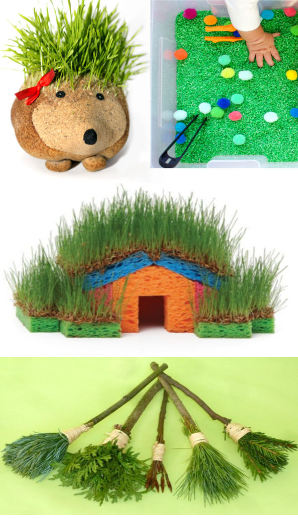 Grow your own Easter basket grass, plus lots of other gun ways for kids to grow grass. #easterbasketideas #eastercrafts #growgrassforeasterbasket #easteractivitiesforkids #easterbasketdiy #growingajeweledrose