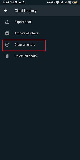 Cara Membersihkan Chat Whatsapp 3