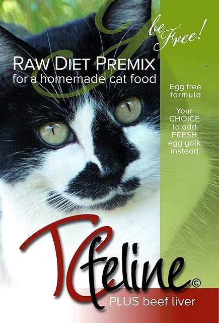 Raccomandiamo l'integratore alimentare per gatti crudi TCFELINE