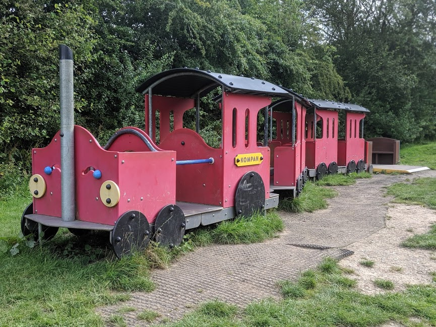 Train play area at Guisborough Forest