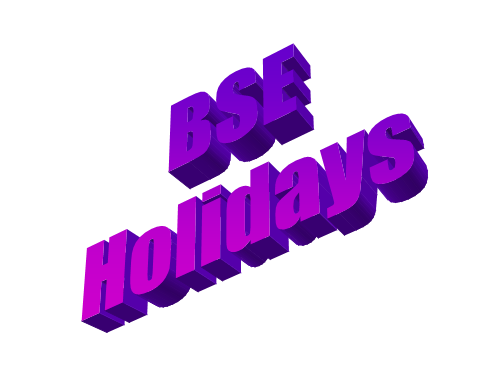 BSE Holidays | Stock Market Holidays