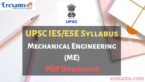 IES Syllabus Mechanical PDF