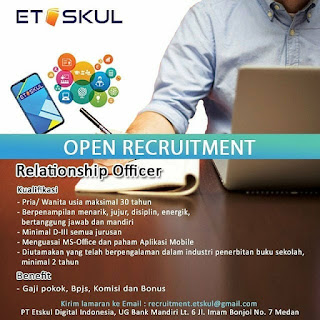 Relationship Officer di PT Etskul Digital Indonesia