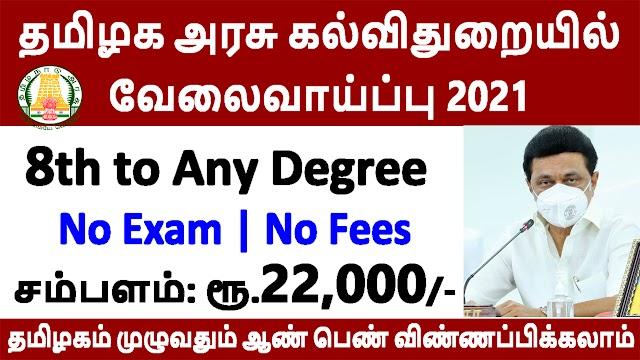 தமிழக அரசு கல்விதுறையில் வேலைவாய்ப்பு 2021 | Anna University Recruitment 2021