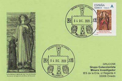 Santa Bárbara, San Tirso, San Isidoro, Oviedo, sello, personalizado, tu sello, iglesia, tarjeta