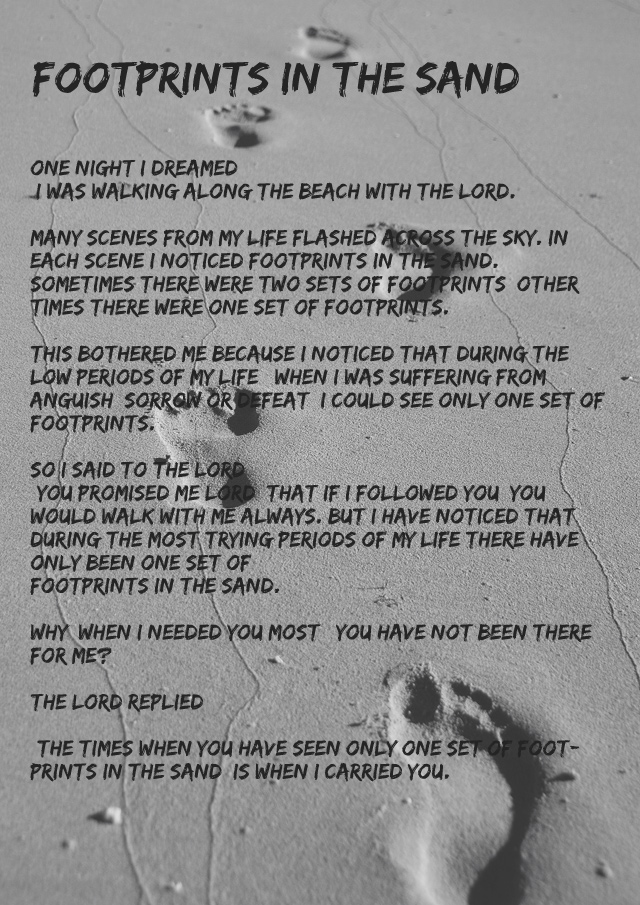 Transformative image throughout footprints in the sand printable