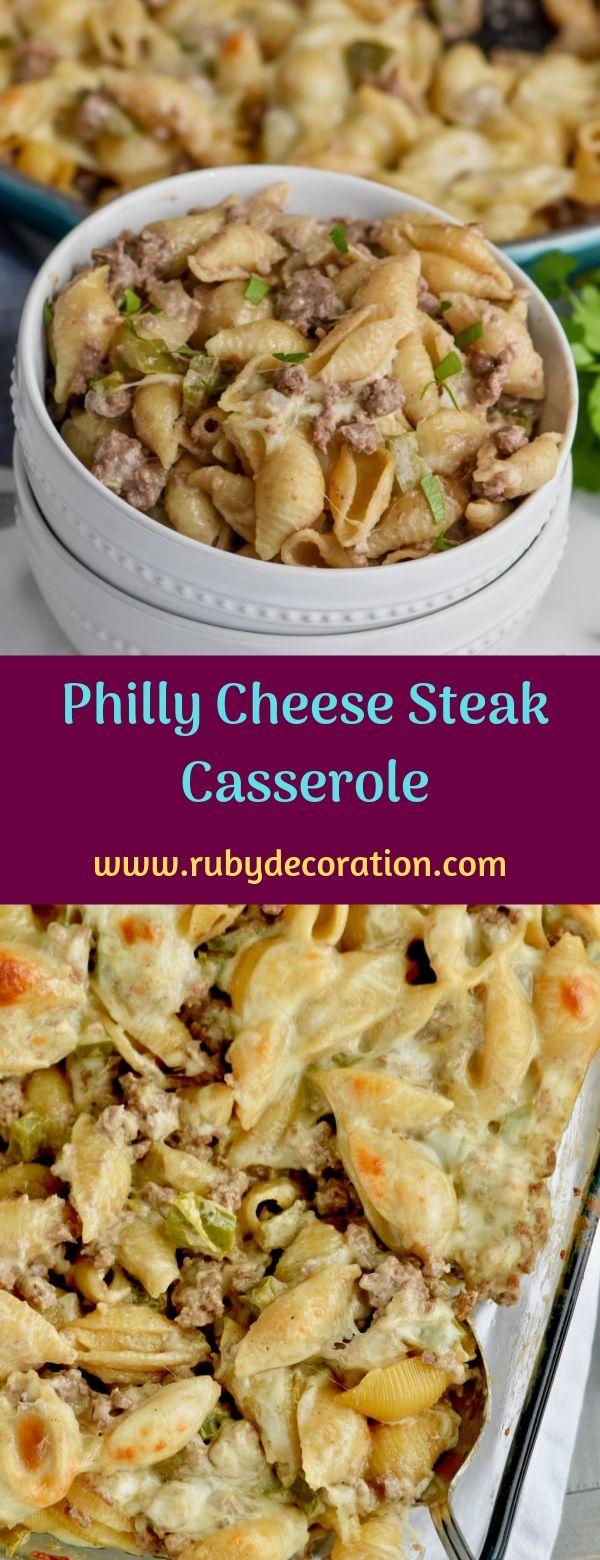 Philly Cheese Steak Casserole