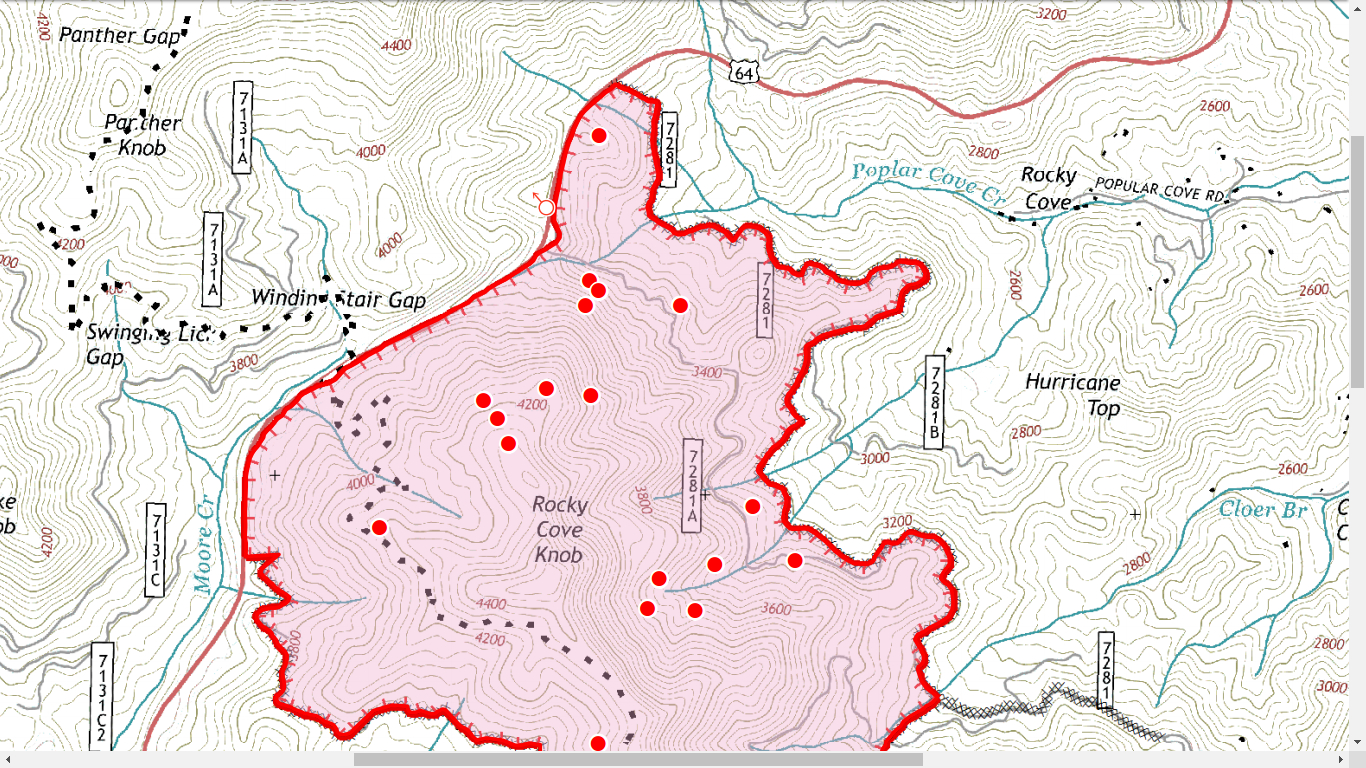 Knob Fire North Sector  Click to Embiggen