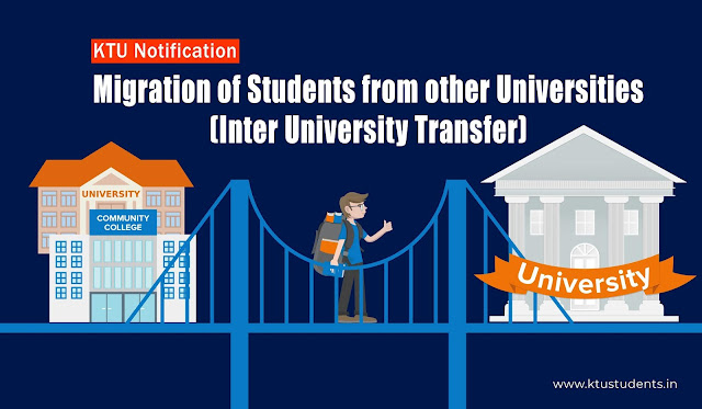 ktu migration and inter university transfer fee notification
