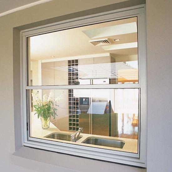 Jendela sliding vertical upvc untuk rumah pribadi