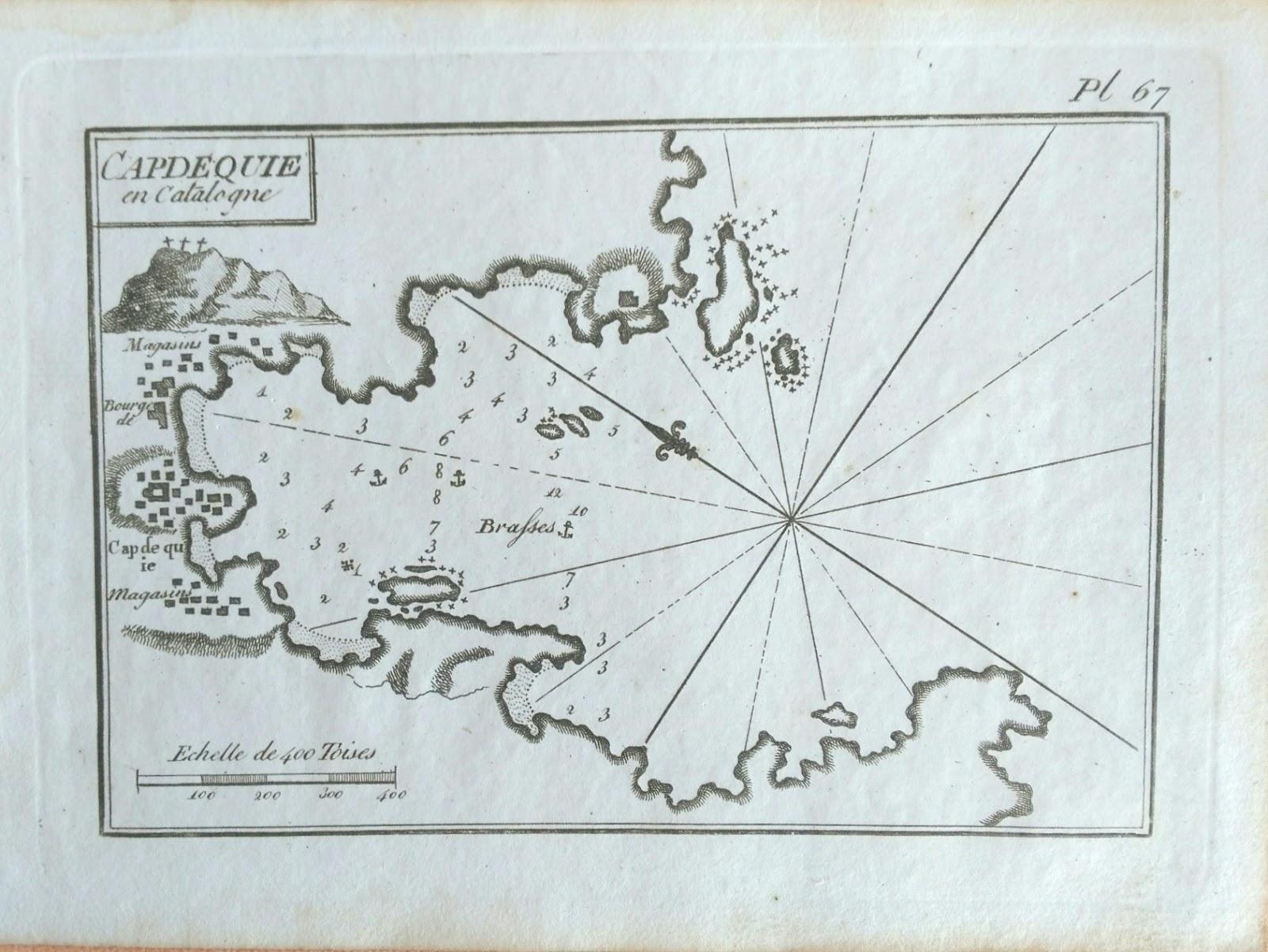 Plano antiguo Puerto de Cadaqués en Gerona | Mapas antiguos ...