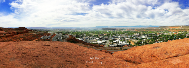 Panoramic View of St George Utah from Pioneer Park