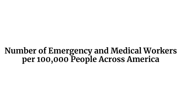 Number of Emergency and Medical Workers per 100,000 People Across America