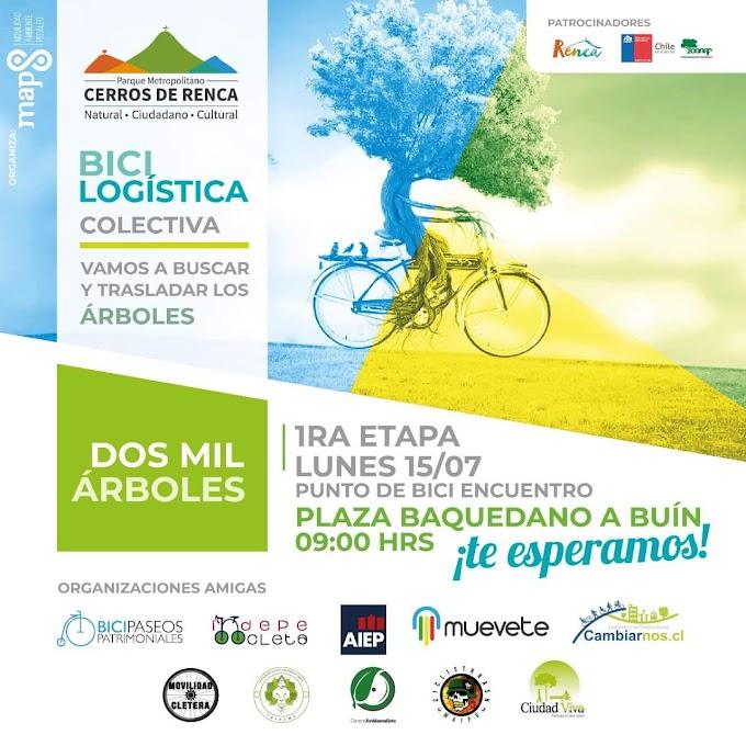 Bici Logística para 2000 arboles.