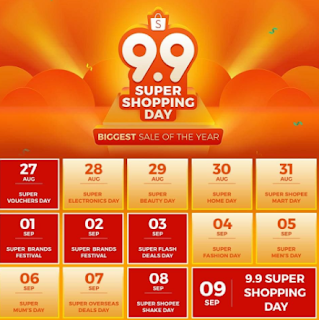 Ayoo!! Belanja di Shopee 9.9 Super Shopping Day